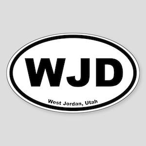 West Jordan, Utah Oval Sticker