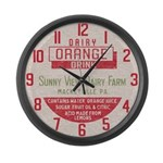Vintage Dairy Cap Large Wall Clock