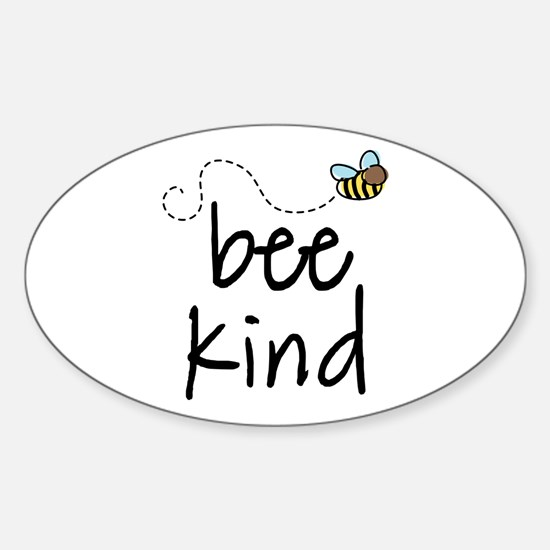 Be Kind Garden Bee Oval Decal