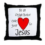 Jesus Heart Throw Pillow