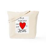 Jesus Heart Tote Bag