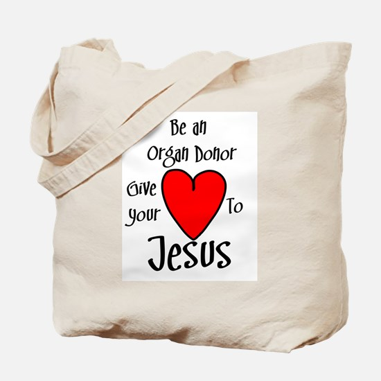 Jesus Heart Tote Bag
