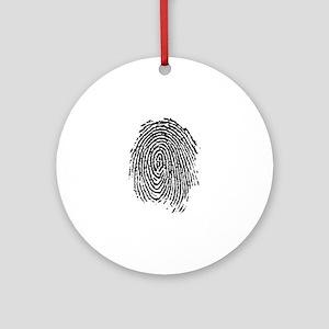 fingerprint Round Ornament