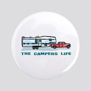 """The campers life 3.5"""" Button"""