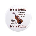 """Fiddle or Violin 3.5"""" Button (100 pack)"""
