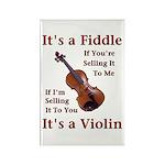 Fiddle or Violin Rectangle Magnet