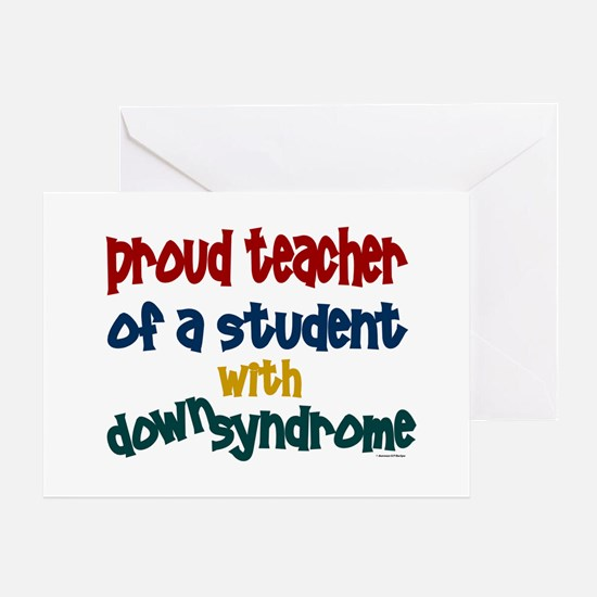 Proud Teacher....2 (Student DS) Greeting Card