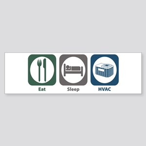 Eat Sleep HVAC Bumper Sticker
