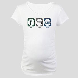 Eat Sleep HVAC Maternity T-Shirt