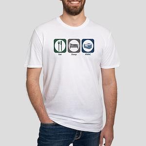 Eat Sleep HVAC Fitted T-Shirt