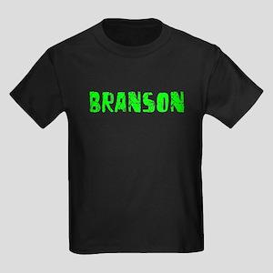 Branson Faded (Green) Kids Dark T-Shirt