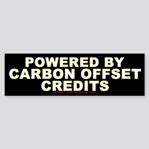 Carbon Offset Credits Bumper Sticker