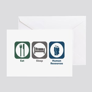 Eat Sleep Human Resources Greeting Cards (Pk of 20