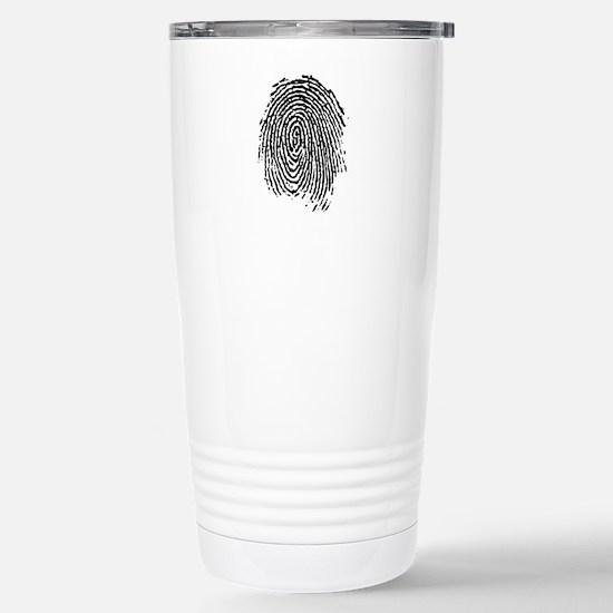 fingerprint Stainless Steel Travel Mug