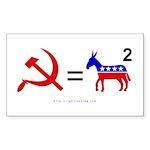 Democrats Squared Rectangle Sticker 50 pk)