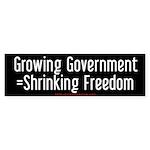 Growing & Shrinking Bumper Sticker