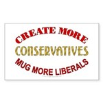 Create more Conservatives Rectangle Sticker