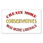 Create more Conservatives Rectangle Sticker 50 pk