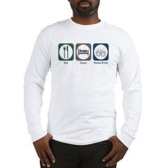 Eat Sleep Home Brew Long Sleeve T-Shirt