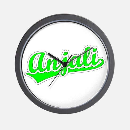 Retro Anjali (Green) Wall Clock