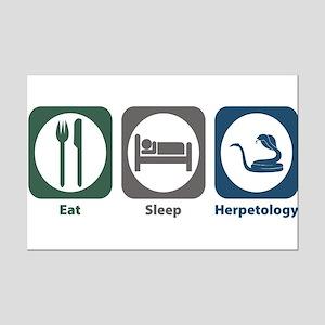 Eat Sleep Herpetology Mini Poster Print