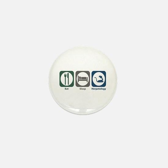 Eat Sleep Herpetology Mini Button