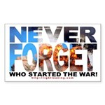 Never Forget Who Started Rectangle Sticker 50 pk)