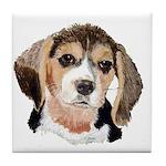 Beagle Tile Coaster (white background)