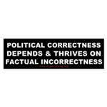 Political Correctness Thrives Sticker (Bumper 10 p