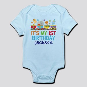 5a55ef602a1acd Volleyball Elephant Gift Infant Bodysuit.  16.95.  19.99 · Circus Animal  1st Birthday Infant Bodysuit