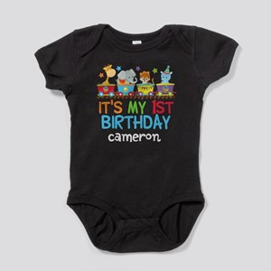 Circus Animal 1st Birthday Baby Bodysuit