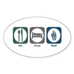 Eat Sleep Heal Oval Decal
