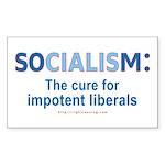 Socialism Impotent Liberals Rectangle Sticker
