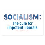 Socialism Impotent Liberals Rectangle Sticker 10