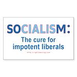 Socialism Impotent Liberals Rectangle Sticker 50