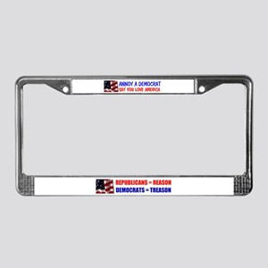 ANNOY DEMOCRATS License Plate Frame