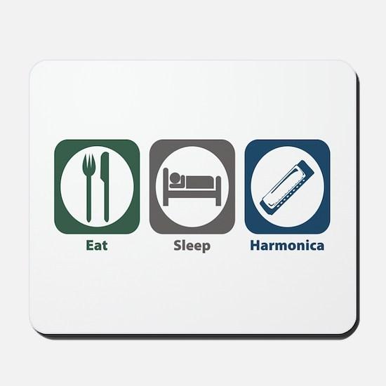 Eat Sleep Harmonica Mousepad
