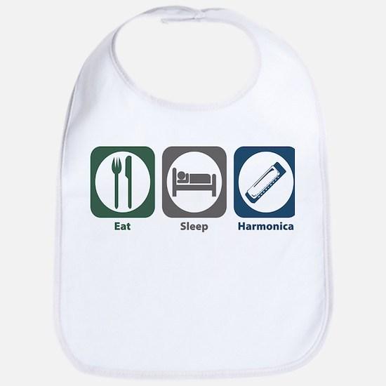 Eat Sleep Harmonica Bib