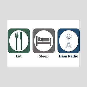 Eat Sleep Ham Radio Mini Poster Print