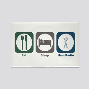 Eat Sleep Ham Radio Rectangle Magnet