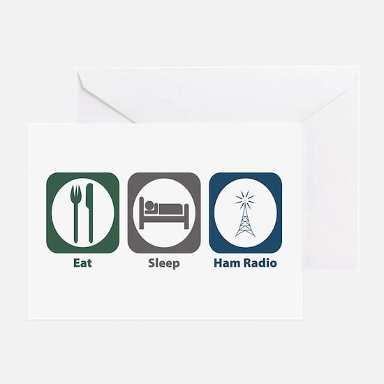 Eat Sleep Ham Radio Greeting Card