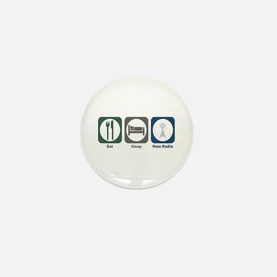 Eat Sleep Ham Radio Mini Button