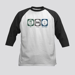 Eat Sleep Ham Radio Kids Baseball Jersey