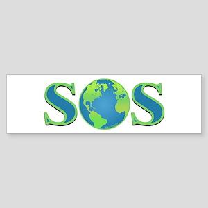 SOS earth Bumper Sticker