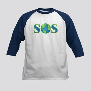 SOS earth Kids Baseball Jersey