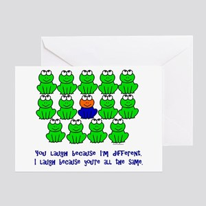 Being Different FROGS 3 Greeting Card