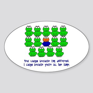 Being Different FROGS 3 Oval Sticker