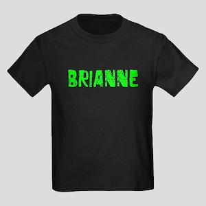 Brianne Faded (Green) Kids Dark T-Shirt