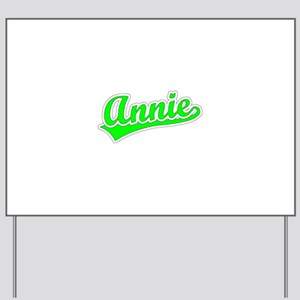 Retro Annie (Green) Yard Sign