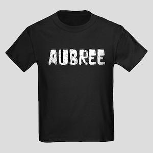 Aubree Faded (Silver) Kids Dark T-Shirt